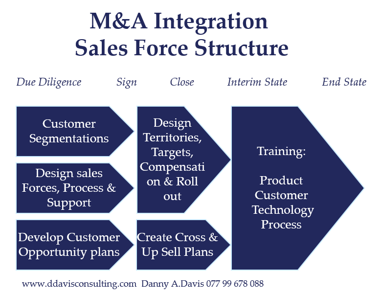 M&A Integration sales force restructure